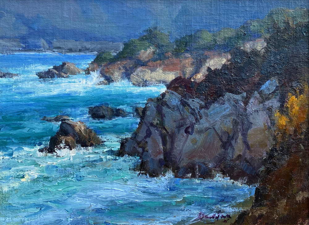 Bill Davidson - Coastal Light - Oil on Canvas/Board - 11 x 14