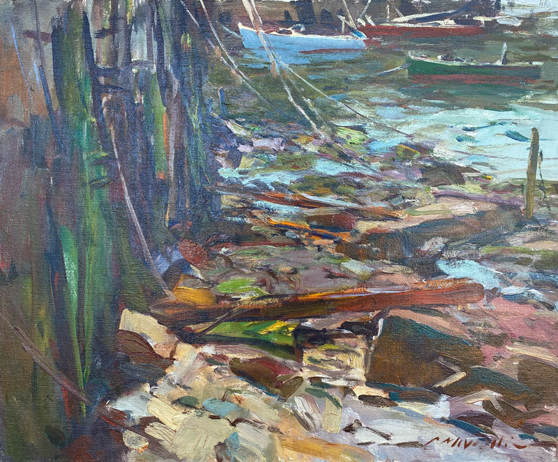 Charles Movalli - Low Tide - Oil on Canvas - 20 x 24