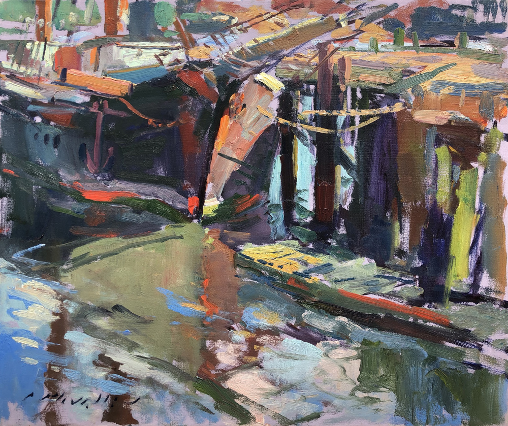 Charles Movalli - The Boat - Oil on Canvas - 20 x 24