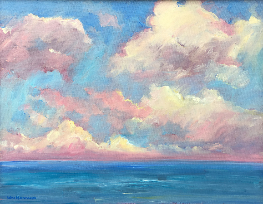 William Hannum - Ocean Clouds border=