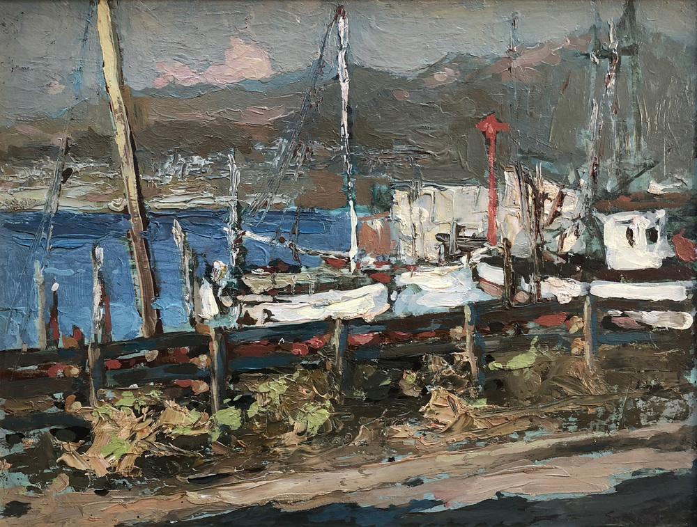 Monterey Boats | S  C  Yuan | James J  Rieser Fine Art