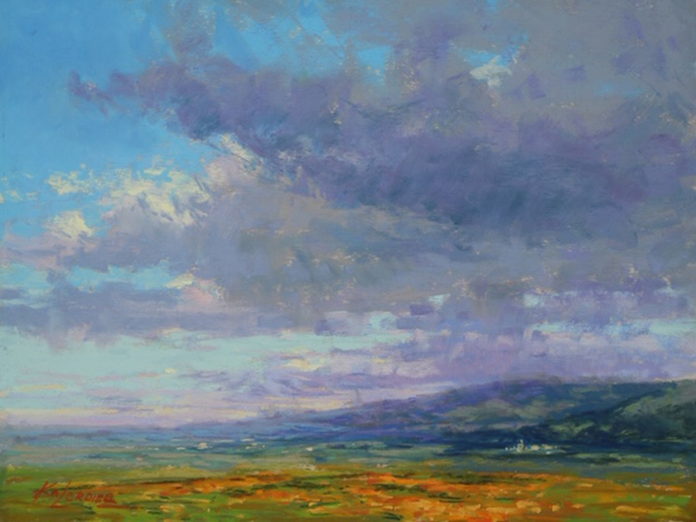 Kim Lordier - The Antelope Valley - Pastel on Archival Board - 9 x 12