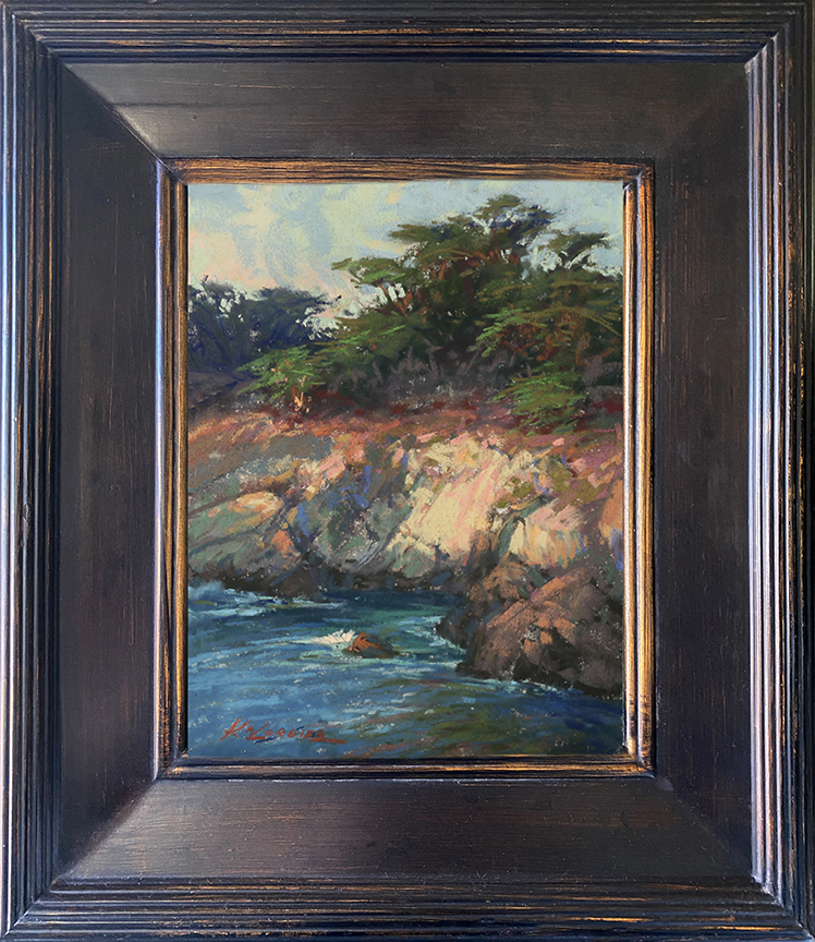 Kim Lordier - Cypress Grove Trail Study - Pastel on Archival Board - 8 x 6
