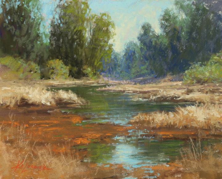 Kim Lordier - Elkhorn Slough Afternoon - Pastel on Archival Board - 8 x 10