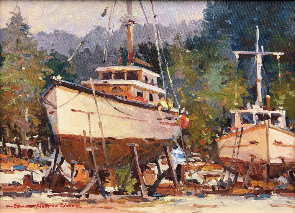 Edward Norton Ward - Dry Docked Boats #02040 border=