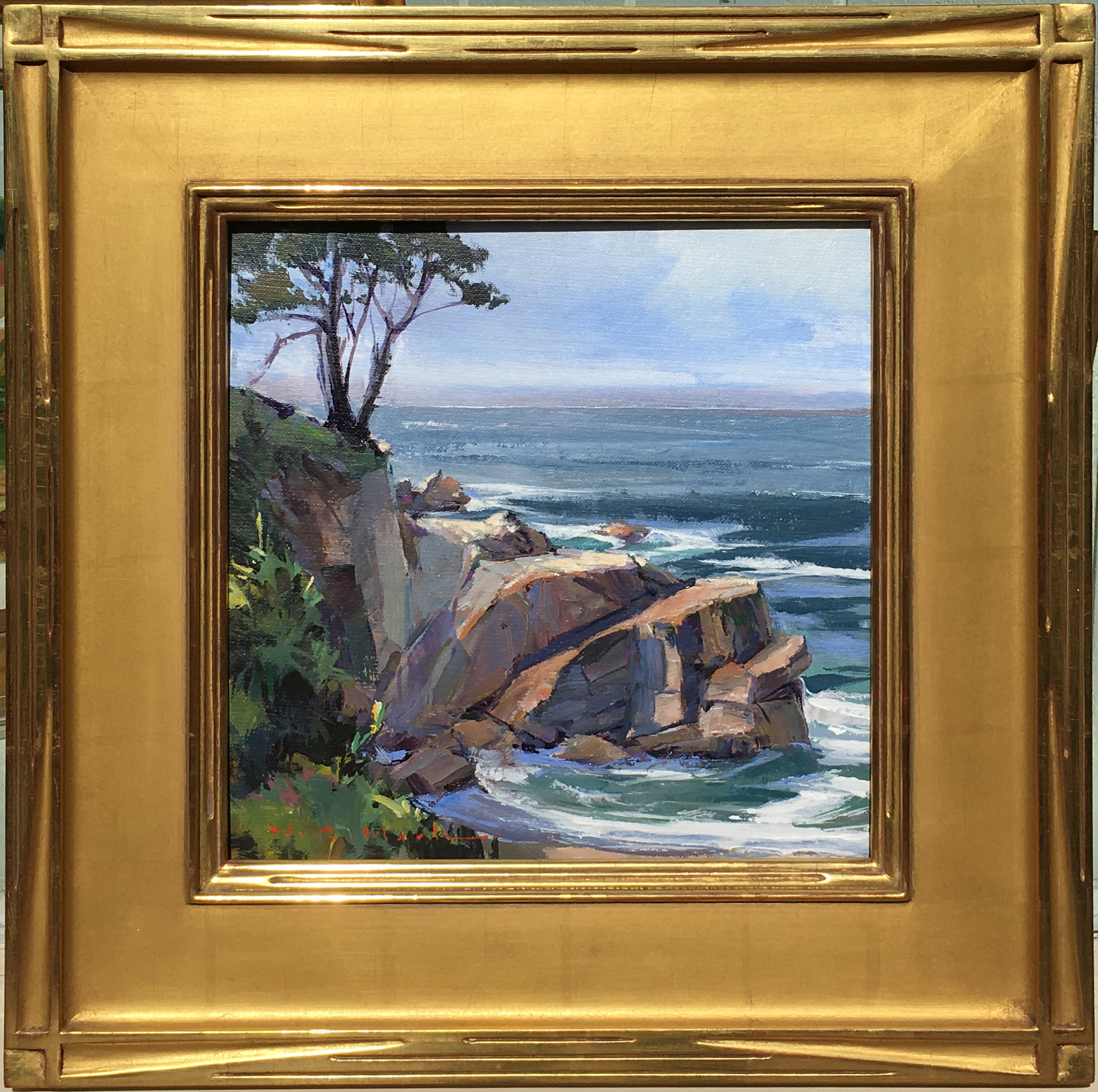 William C. Hook - Hidden Cove Cliff #3848