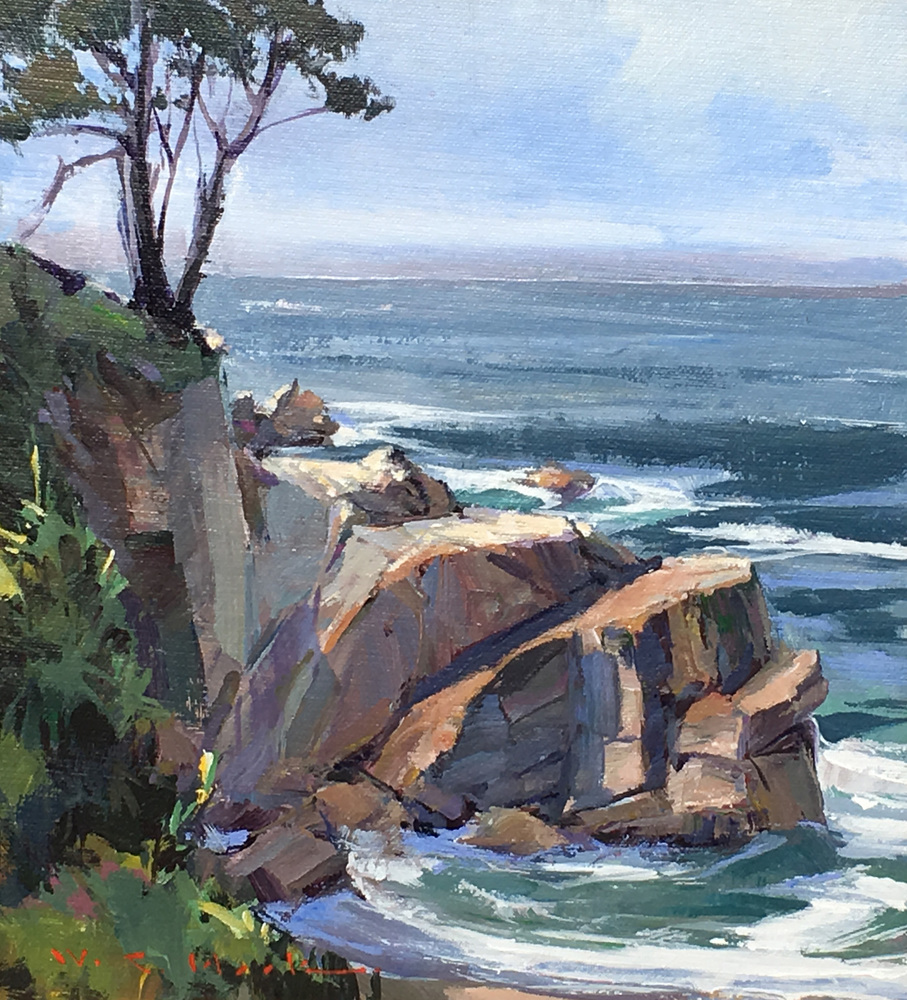 William C. Hook - Hidden Cove Cliff #3848 border=