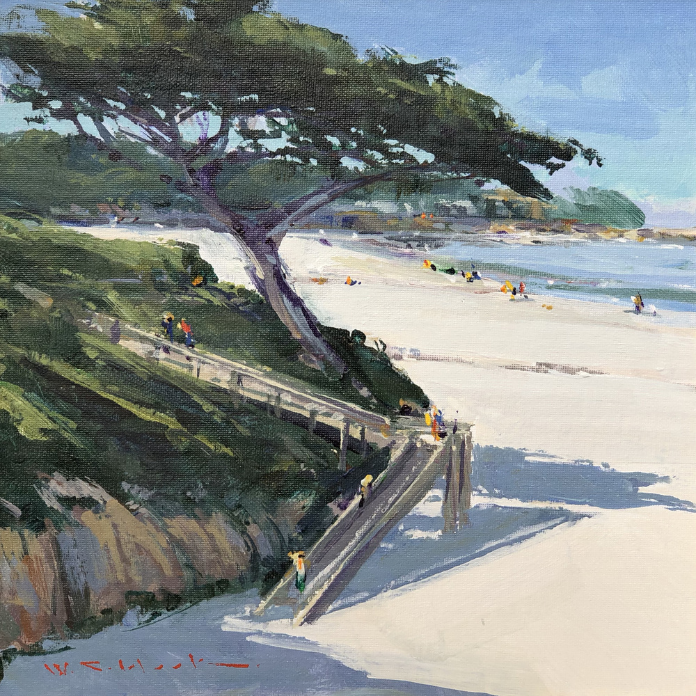 William C. Hook - Beach Stair, Carmel #4040 border=