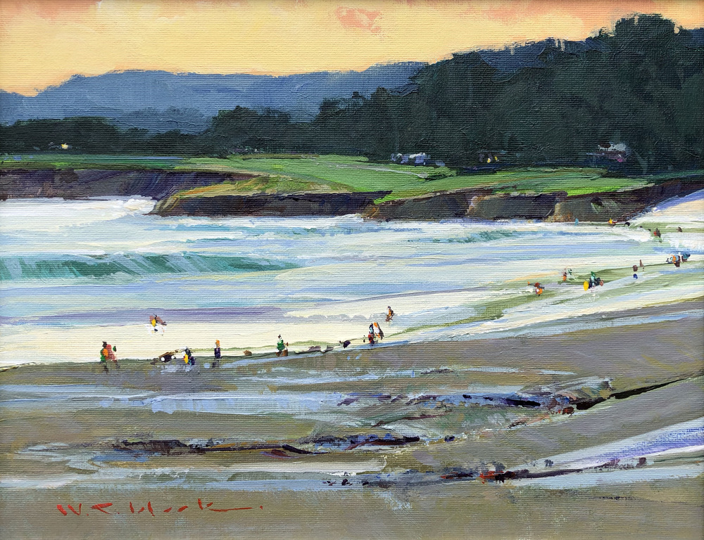 William C. Hook - Opening Day, Pebble Beach #4076 border=