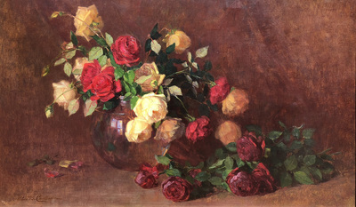 Title: Le Franc Roses , Date: c. 1890's , Size: 24 x 40 , Medium: Oil on Canvas , Price: $55,000