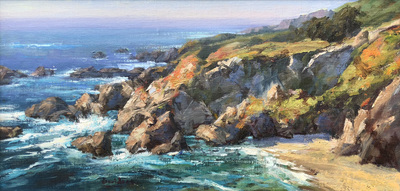 Title: California Cadence , Date: 2018 , Size: 12 x 24 , Medium: Oil on Canvas/Board , Price: $3,750