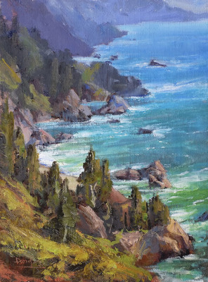 Title: Big Sur , Date: 2018 , Size: 12 x 9 , Medium: Oil on Linen , Price: $2,250