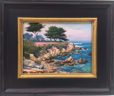Title: Pacific Grove Pinks , Date: 2017 , Size: 9 x 12 , Medium: Oil on Linen Panel