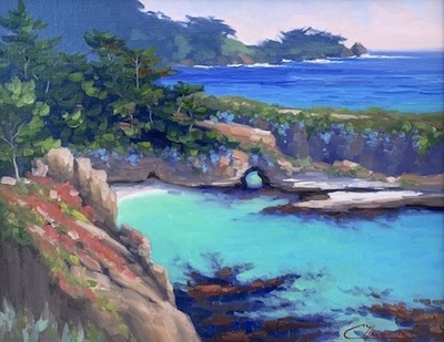 Title: China Cove , Size: 16 x 20 , Medium: Oil on Board , Price: $2,000