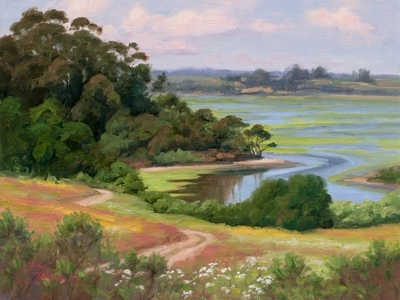 Title: Elkhorn Slough , Date: 2019 , Size: 12 x 16 , Medium: Oil on Board , Price: $1,250