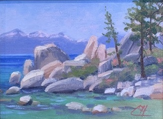 Title: Tahoe Summer , Date: 2019 , Size: 6 x 8 , Medium: Oil on Canvas , Price: $400