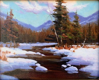Title: Snowy River , Date: 2020 , Size: 8 x 10 , Medium: Oil on Linen Panel , Price: $600