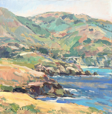 Title: Bixby Creek Bridge, Big Sur , Date: c. 2004 , Size: 30 x 30 , Medium: Acrylic on Canvas