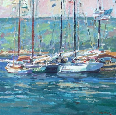 Title: Camden, Maine , Date: 2008 , Size: 30 x 30 , Medium: Acrylic on Canvas , Price: $8,500