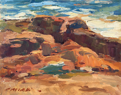 Charles Movalli - Low Tide - Oil on Canvas/Board - 8 x 10
