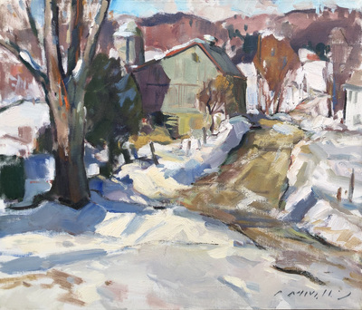 Charles Movalli - North Country - Oil on Canvas - 20 x 24