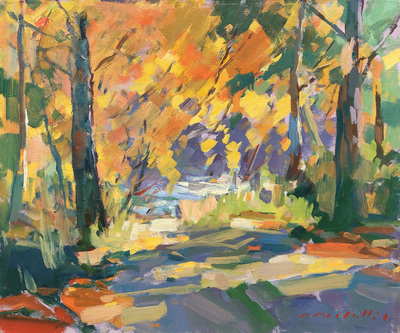 Charles Movalli - Fall: Annisquam - Oil on Canvas - 20 x 24