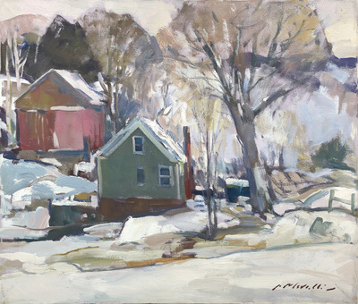 Charles Movalli - Mid-Winter - Oil on Canvas - 20 x 24
