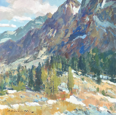 Charles Movalli - In the Sierra Mountains - Acrylic on Canvas - 30 x 30