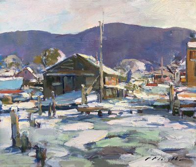 Charles Movalli - Covered in Snow - Oil on Canvas - 20 x 24