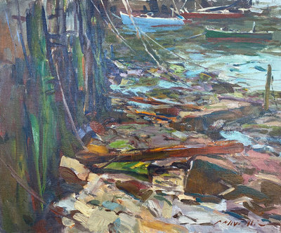 Title: Low Tide , Date: c. 1980's , Size: 20 x 24 , Medium: Oil on Canvas , Price: $5,500