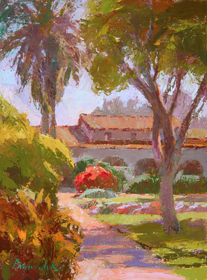 Title: Afternoon at the Mission , Date: 2010 , Size: 12 x 9 , Medium: Oil on Panel , Price: $2,250