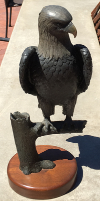 Title: Eagle on a Limb , Date: 1994 , Size: 18 H , Medium: Bronze Sculpture