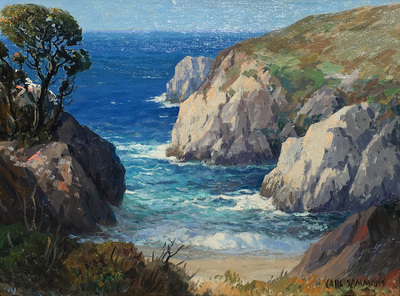 Title: Point Lobos , Date: c. 1930's , Size: 12 x 16 , Medium: Oil on Canvas/Board