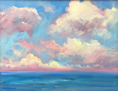 Title: Ocean Clouds , Date: c. 1988 , Size: 14 x 18 , Medium: Oil on Canvas , Price: $1,750