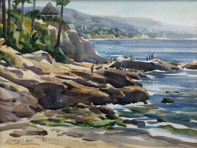 Title: Morning in Laguna , Date: 2006 , Size: 9 x 12 , Medium: Watercolor , Price: $950