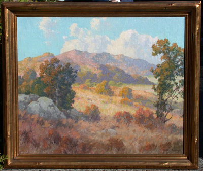 Title: Sunlit Hills , Date: c. 1920's , Size: 25 x 30 , Medium: Oil on Canvas
