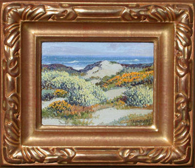 Title: Wildflowers, 17-Mile Drive , Date: c. 1940's , Size: 6 x 8 , Medium: Oil on Canvas/Board