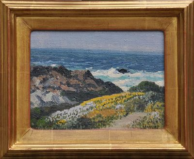 Title: Wildflowers, Carmel-by-the-Sea , Date: c. 1940's , Size: 6 x 8 , Medium: Oil on Canvas/Board