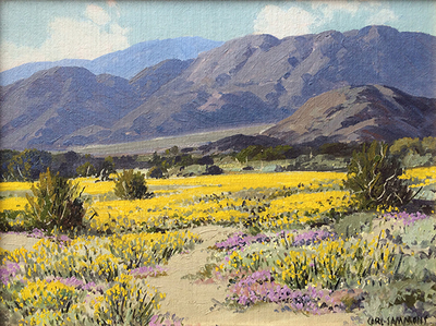 Title: California Wildflowers , Date: c. 1940's , Size: 12 x 16 , Medium: Oil on Canvas/Board
