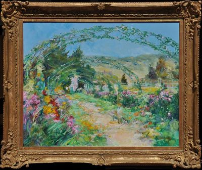 Jane Goode - The Garden Path - Giverny - Oil on Linen - 24 x 30