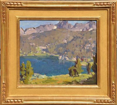 Title: Sierra Lake , Date: c. 1920's , Size: 12 x 15 , Medium: Oil on Canvas