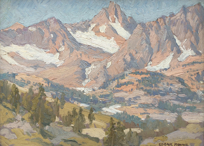 Title: Sierra Vista , Date: c. 1920's , Size: 12 x 16 , Medium: Oil on Board