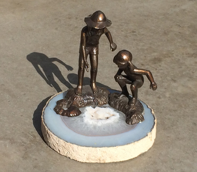 Title: Tide Pool , Size: 5 H x 6 W , Medium: Bronze Sculpture