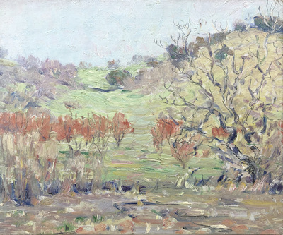 Title: Spring Vale - Carmel Valley , Date: c. 1920's , Size: 10 x 12 , Medium: Oil on Canvas/Board