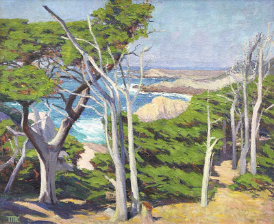 Title: Point Lobos, North Shore , Date: c. 1920's , Size: 30 x 36 , Medium: Oil on Canvas , Price: $17,500