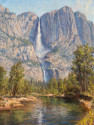 Title: Cho-Looke (Yosemite Falls) , Date: 2016 , Size: 50 x 40 , Medium: Oil on Canvas , Price: $19,500