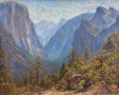 Title: First View of the Valley of Ahwahnee , Date: Summer, 2019 , Size: 24 x 30 , Medium: Oil on Linen on Wood Panel , Price: $8,500