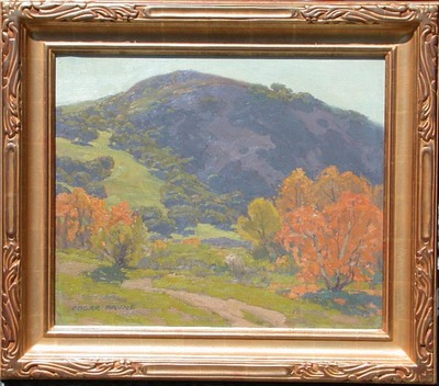 Title: Thanksgiving at San Juan Capistrano , Date: 1920 , Size: 20 x 24 , Medium: Oil on Canvas