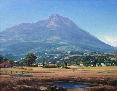 Title: Mount Tamalpais and Mill Valley, 1916 , Date: 1916 , Size: 20 x 26 , Medium: Oil on Canvas , Price: $27,500
