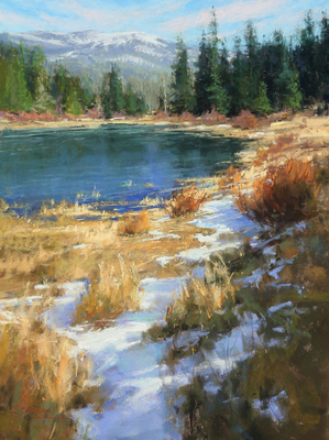 Title: Variation on a Theme, Lake Tahoe , Date: 2017 , Size: 24 x 18 , Medium: Pastel on Archival Board , Price: $6,700